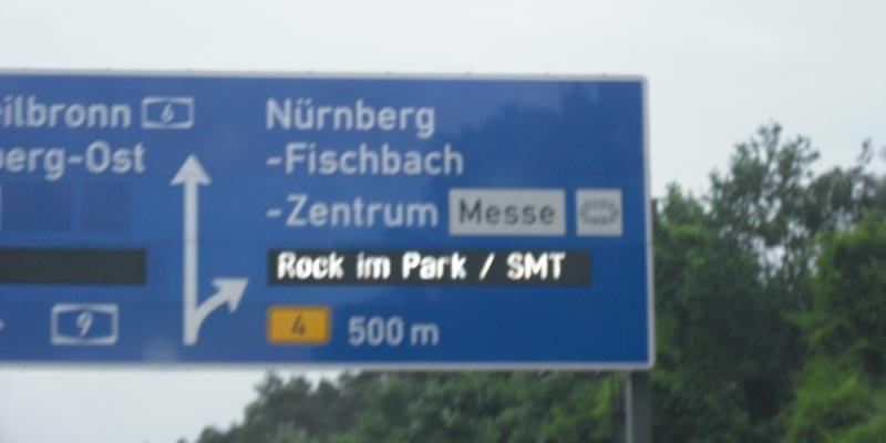 Anreise Rock im Park 2014