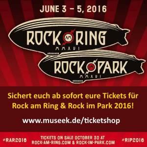 Tickets für Rock am Ring und Rock im Park 2016 kaufen
