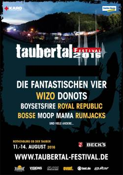 Taubertal Festival 2016 - Bands Plakat