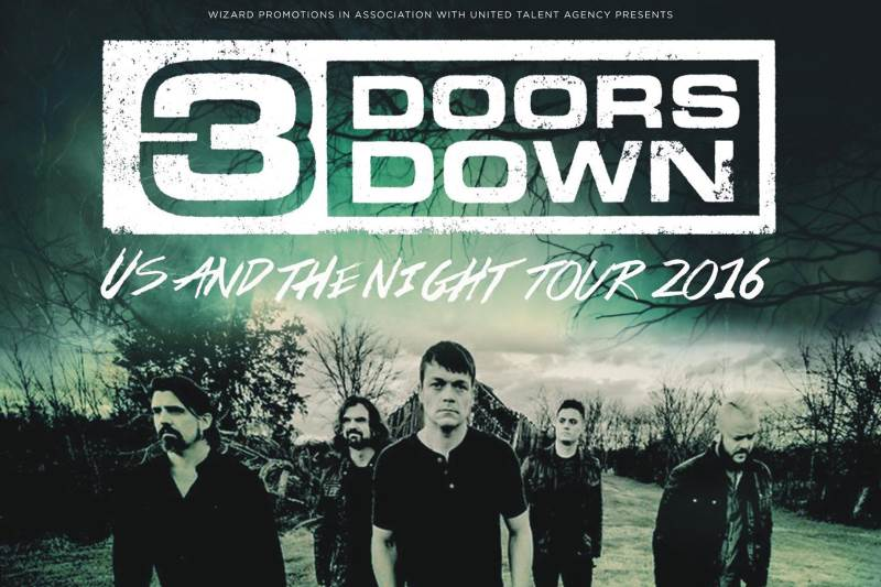 3 Doors Down Us and the Night Tour 2016