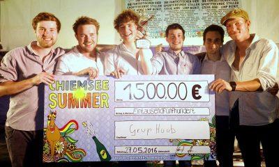 "Grup Huub gewinnen Bandcontest ""Chiemsee Summer Headliner 2020"""