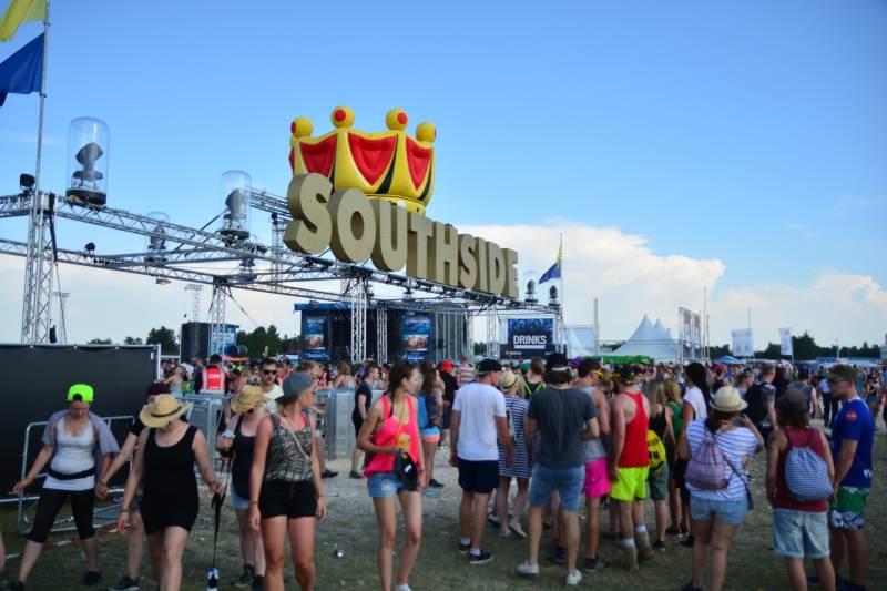 Eingang Bühnenbereich beim Southside Festival 2016