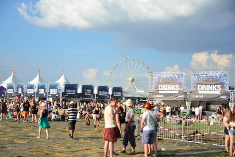 Food-Stände beim Southside Festival 2016