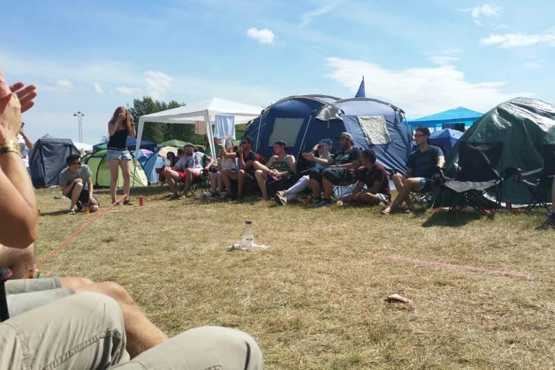 Flunkyball Highfield Festival 2016 Zeltplatz