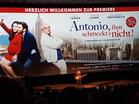 Luke Friend bei der Film-Premiere in München
