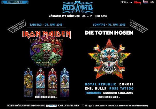 Rockavaria 2018 mit Die Toten Hosen und Iron Maiden