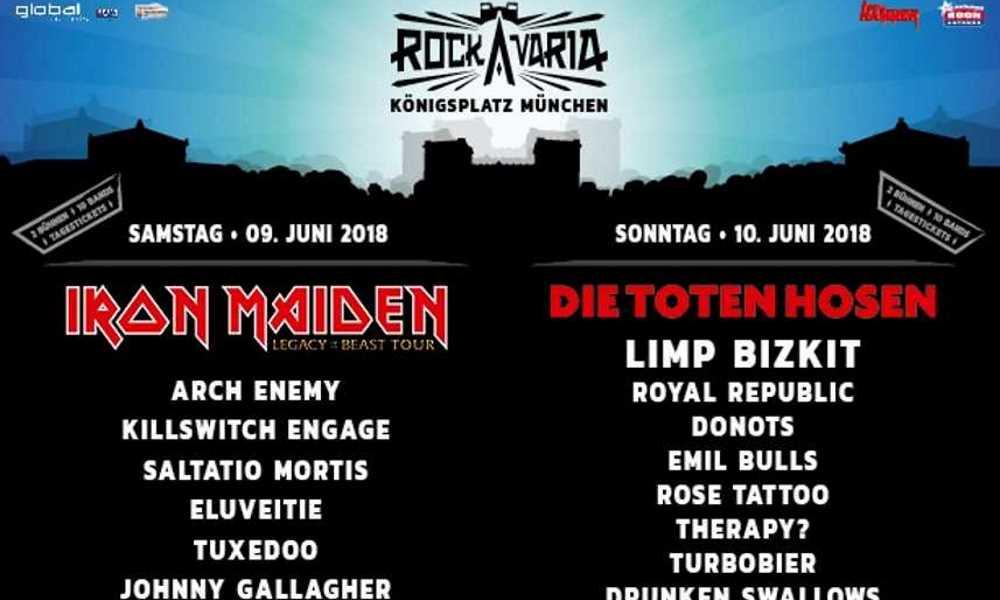 Rockavaria 2018 München neue Bands