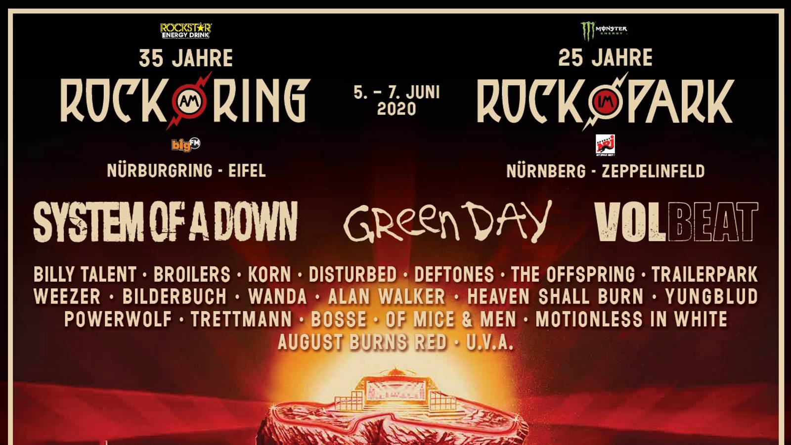 Rock im Park 2020 Bands Rock am Ring 2020 Bands